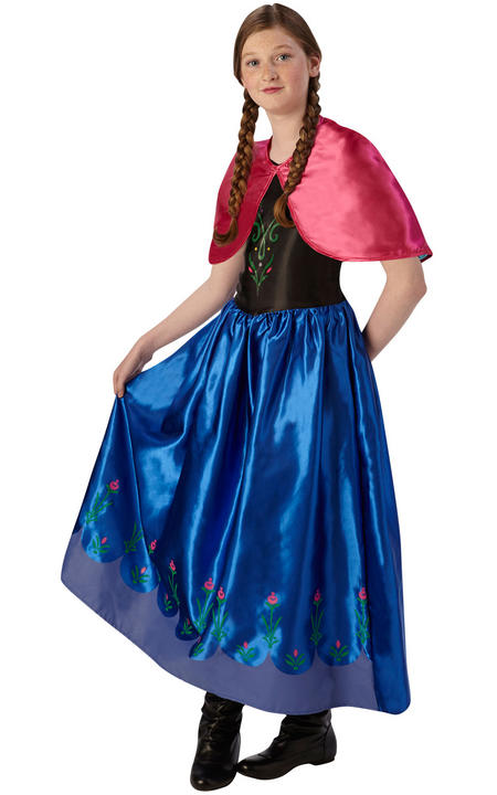 Anna Disney Frozen Classic Girl's Fancy Dress Costume Thumbnail 1