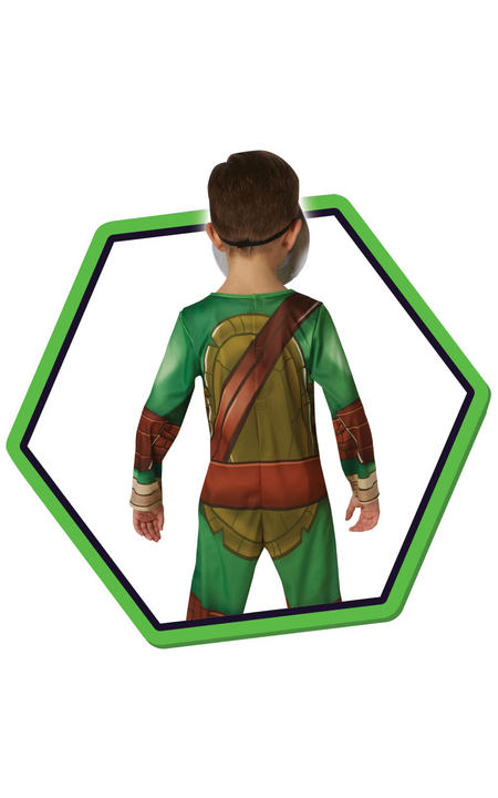 Boy's TMNT Half Shell Hero Fancy Dress Costume Thumbnail 2