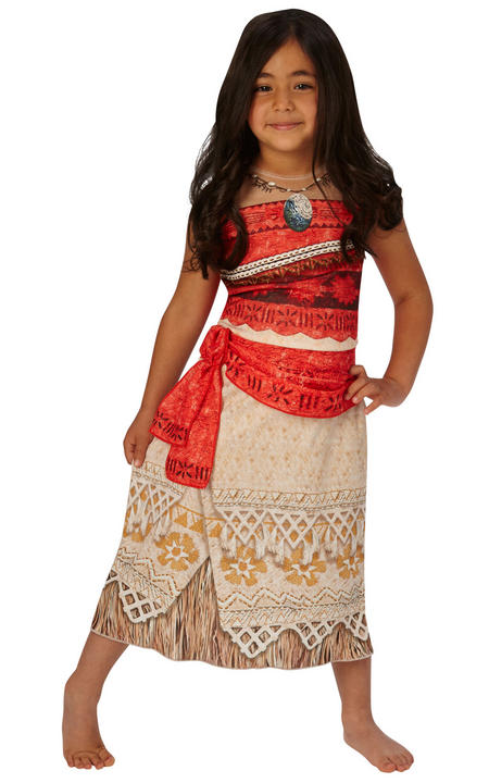 Girl's Classic Disney Moana Fancy Dress Costume Thumbnail 1