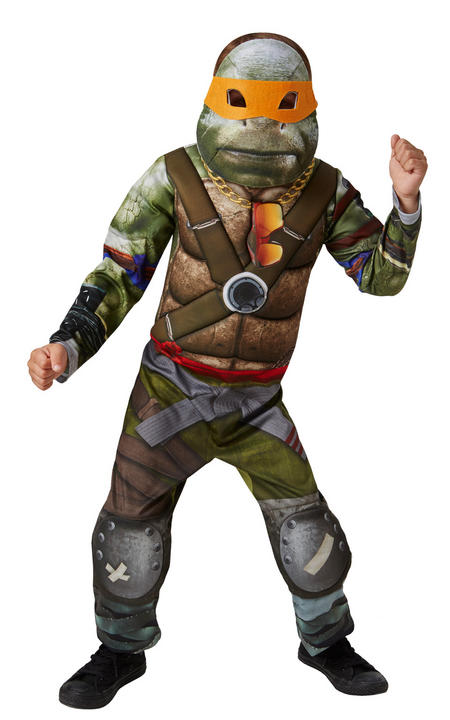 Boy's Deluxe Movie TMNT Teenage Mutant Ninja Turtles Fancy Dress Costume Thumbnail 1