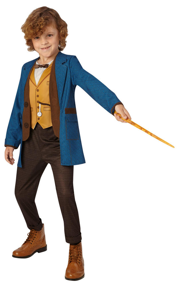 Boys Newt Scamander Costume Kids Harry Potter School Book week Fancy Dress Story