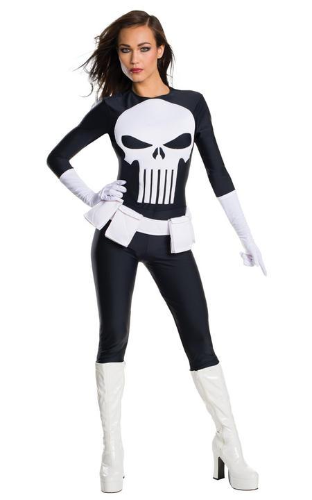Marvel The Punisher Secret Wishes Ladies Fancy Dress Costume Thumbnail 1