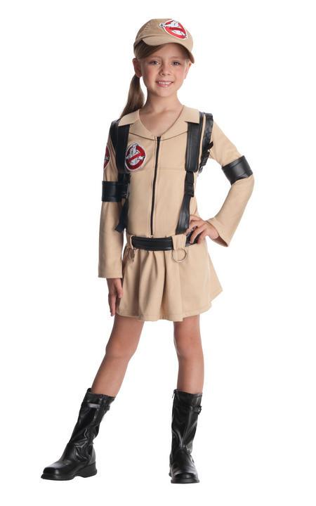 Girl's Ghostbuster Fancy Dress Costume Thumbnail 1