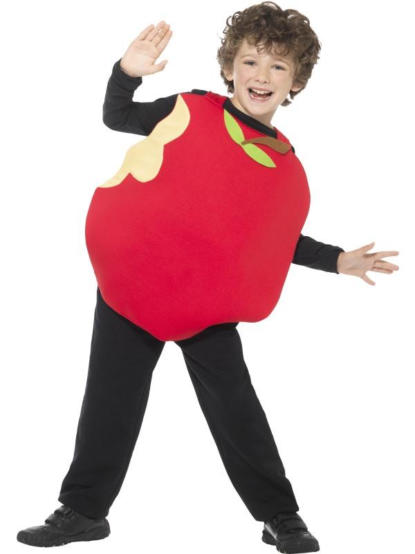 Unisex Red Apple Fancy Dress Costume