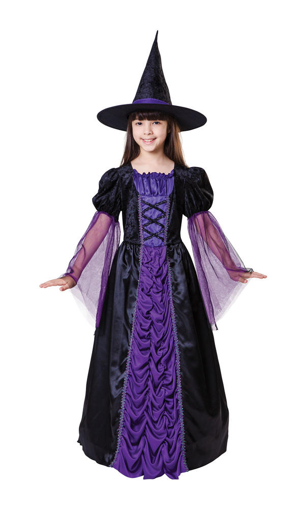 Girl's Princess Witch Fancy Dress Costume