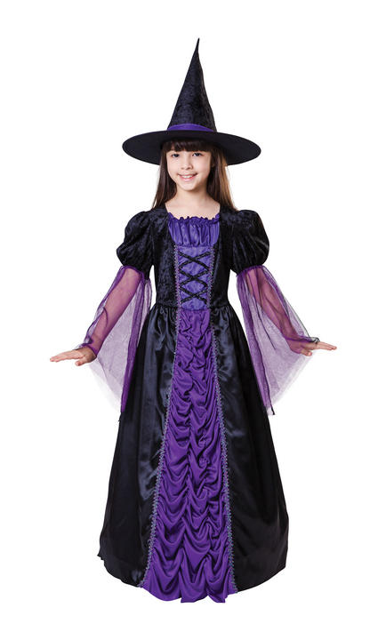 Girl's Princess Witch Fancy Dress Costume Thumbnail 1