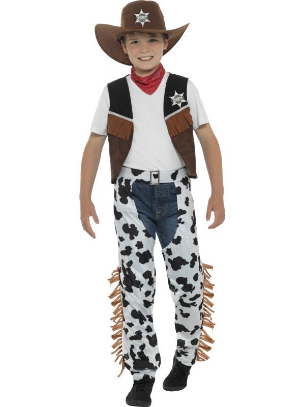Boy's Texan Cowboy Fancy Dress Costume