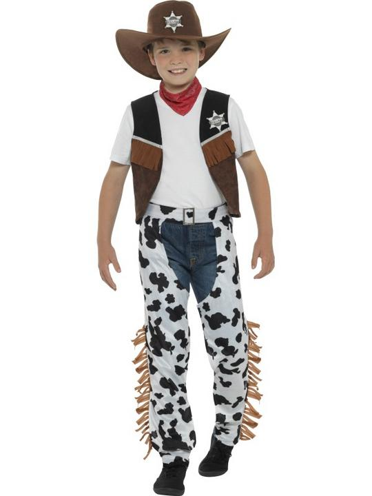 Boy's Texan Cowboy Fancy Dress Costume Thumbnail 1