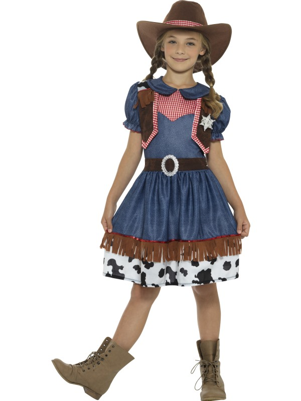 Girl's Texan Cowgirl Costume kids school book week fancy dress party outfit