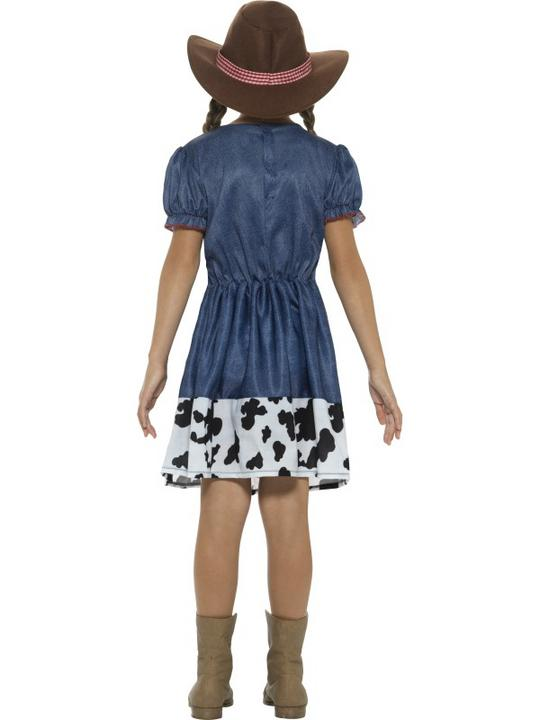 Girl's Texan Cowgirl Costume kids school book week fancy dress party outfit Thumbnail 2