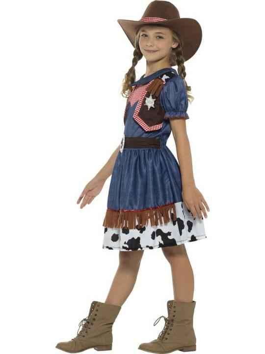 Girl's Texan Cowgirl Costume kids school book week fancy dress party outfit Thumbnail 3