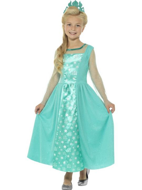 Girl's Ice Princess Fancy Dress Costume Thumbnail 1
