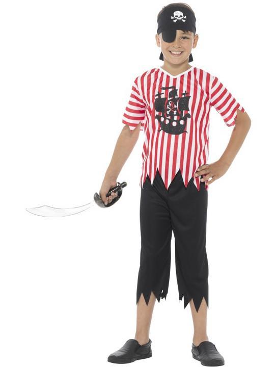 Boy's Jolly Pirate Fancy Dress  Costume Thumbnail 1