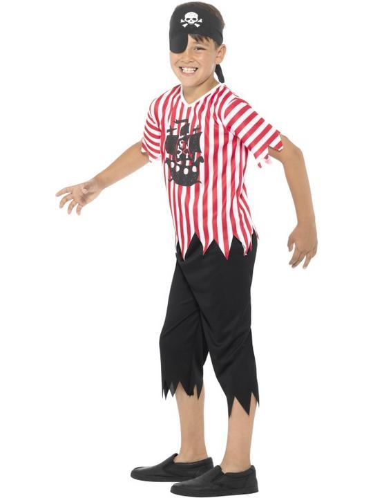 Boy's Jolly Pirate Fancy Dress  Costume Thumbnail 3