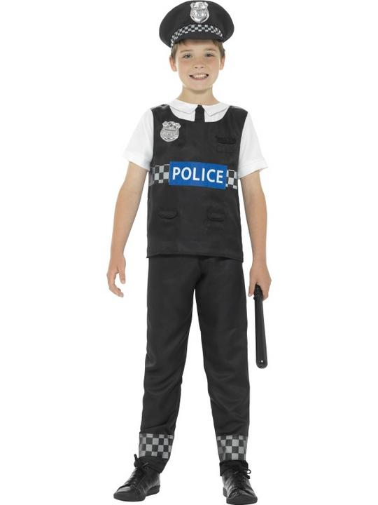 Boy's Cop Fancy Dress Costume Thumbnail 1