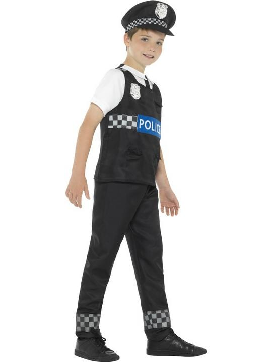 Boy's Cop Fancy Dress Costume Thumbnail 3
