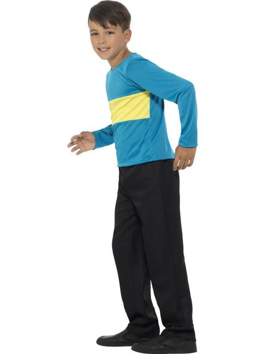 Boy's Jumper Blue with Yellow Stripe Fancy Dress Costume Thumbnail 3