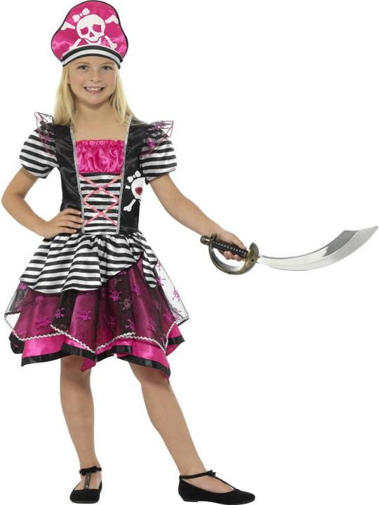 Girl's Perfect Pirate Fancy Dress Costume Thumbnail 1