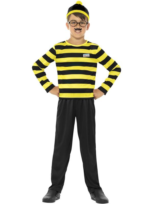 Boys Wheres Wally Odlaw Costume Kids School Book Week Fancy Dress outift