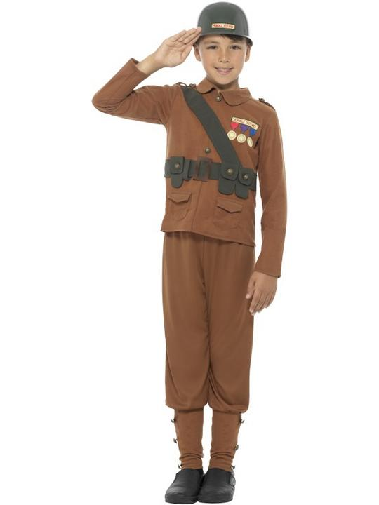 Boys Horrible Histories Soldier Fancy Dress Costume Thumbnail 1