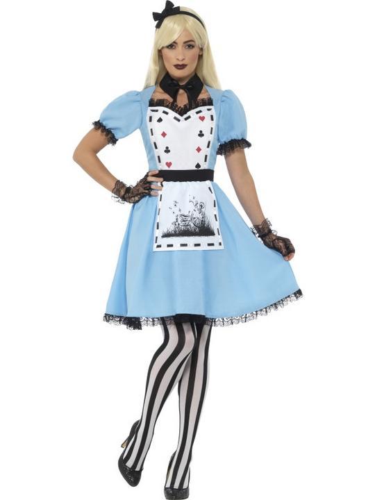 Women's Deluxe Dark Tea Party Fancy Dress Costume Thumbnail 1