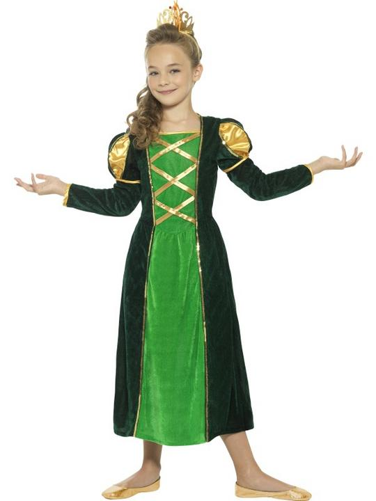 Girl's Medieval Princess Fancy Dress Costume Thumbnail 1