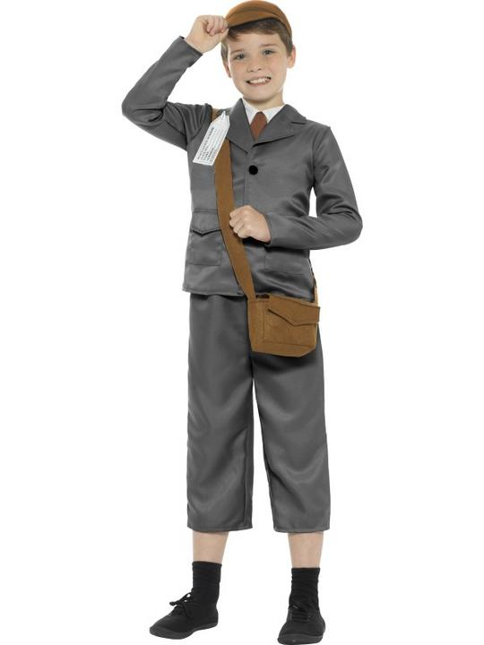 WW2 Evacuee Boy Fancy Dress Costume Thumbnail 1