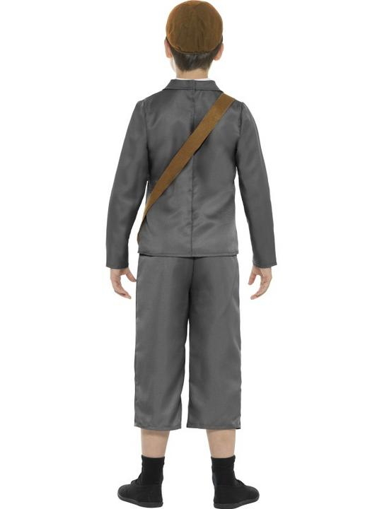 WW2 Evacuee Boy Fancy Dress Costume Thumbnail 2
