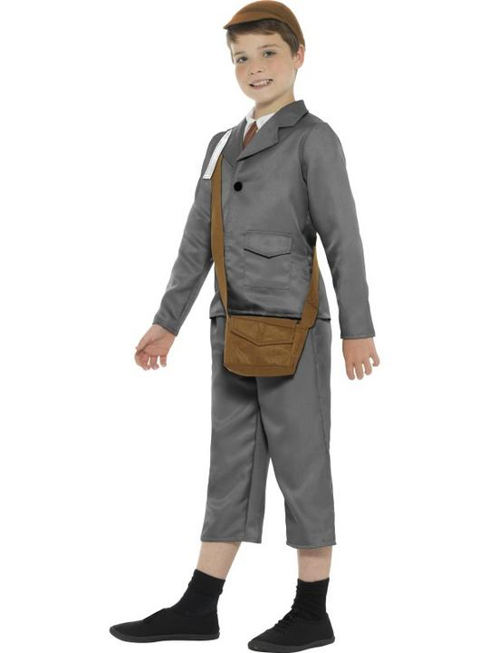 WW2 Evacuee Boy Fancy Dress Costume Thumbnail 3