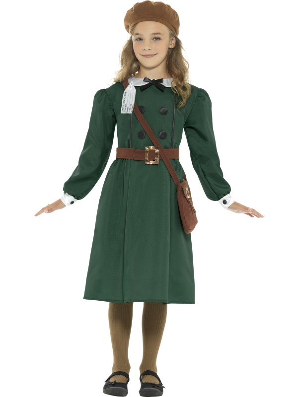 Girls 1940 british school costume kids book week fancy dress armistice outfit