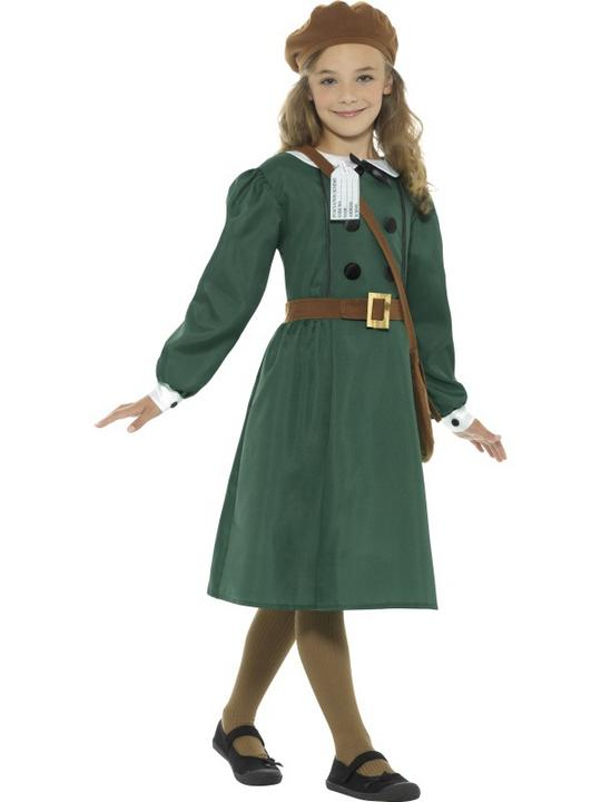 Girls 1940 british school costume kids book week fancy dress armistice outfit Thumbnail 3
