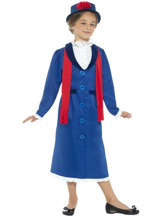 Girl's Victorian Nanny Fancy Dress Costume Thumbnail 1