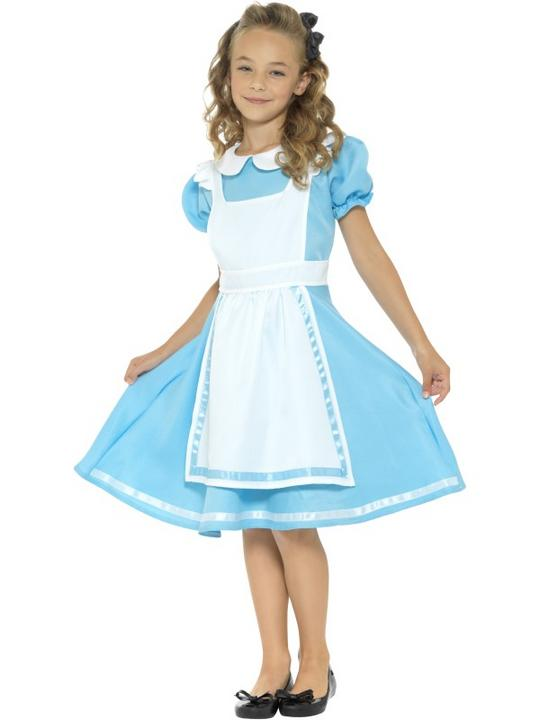 Girls wonderland costume kids school book week fancy dress alice childs outfit Thumbnail 1