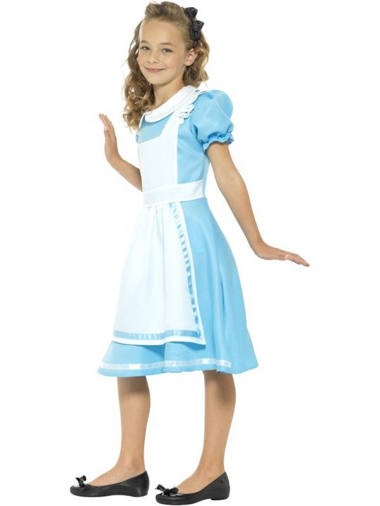 Girls wonderland costume kids school book week fancy dress alice childs outfit Thumbnail 3