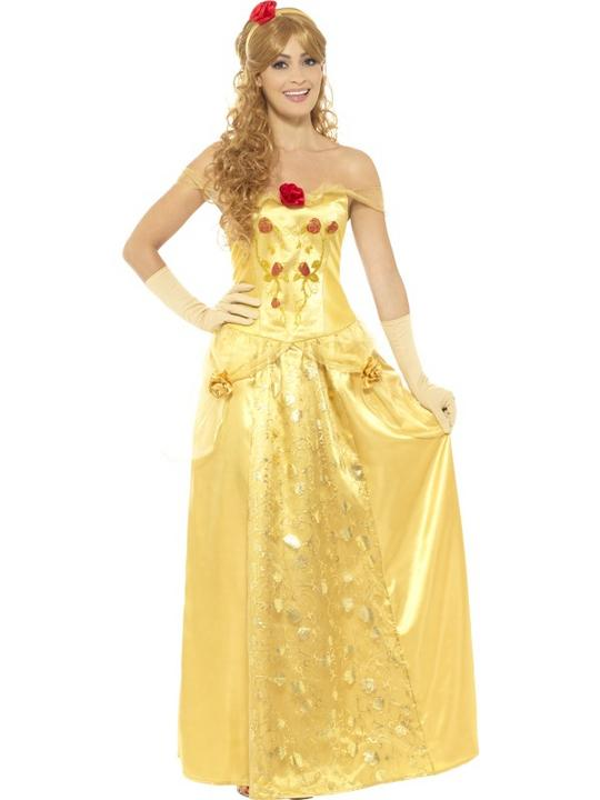 Golden Princess Women's Fancy Dress Costume Thumbnail 1