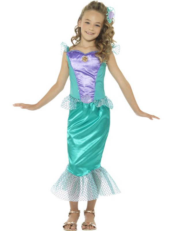 Deluxe Mermaid Girl's Fancy Dress Costume
