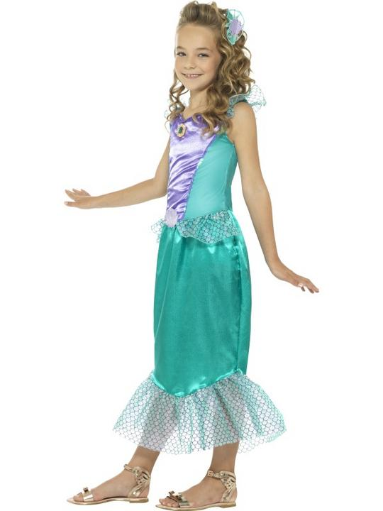 Deluxe Mermaid Girl's Fancy Dress Costume Thumbnail 3
