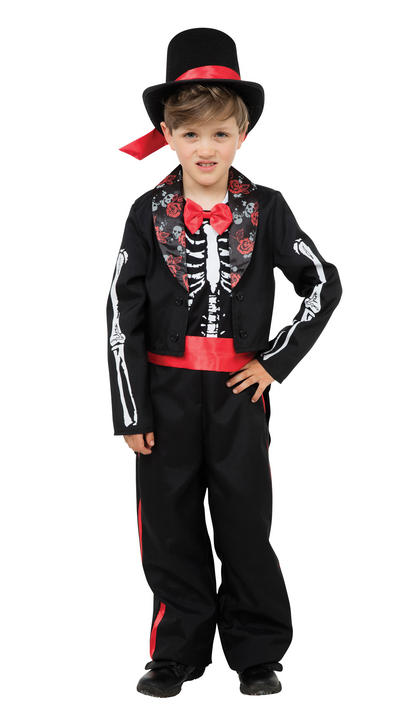 Boy's Day of the Dead Fancy Dress Costume Thumbnail 1