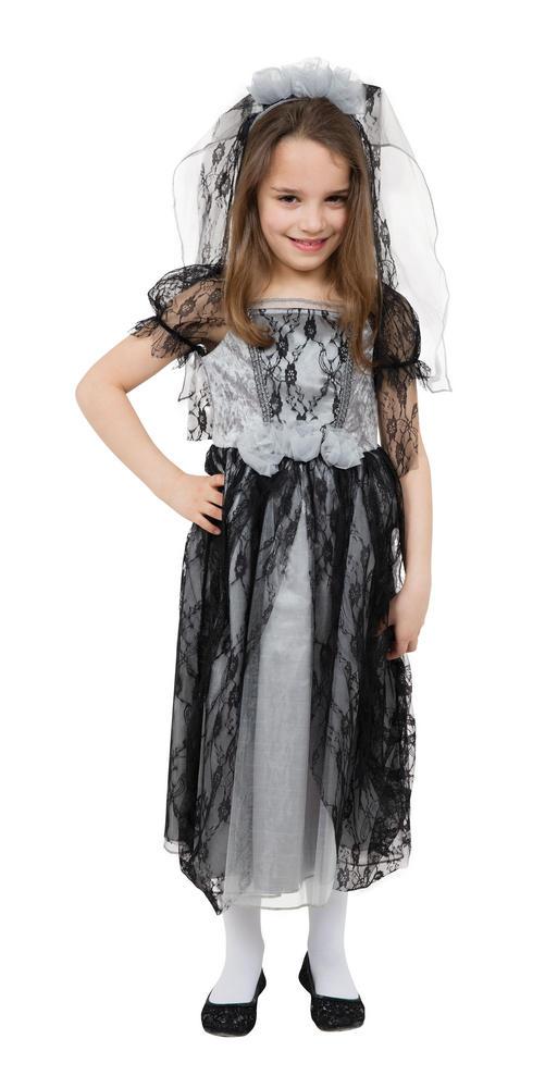Girl's Gothic Bride Fancy Dress Costume