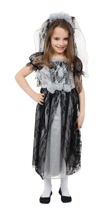Girl's Gothic Bride Fancy Dress Costume  Thumbnail 1