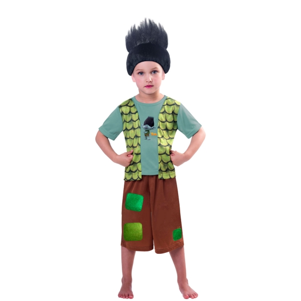 Trolls Branch Boys Fancy Dress Costume