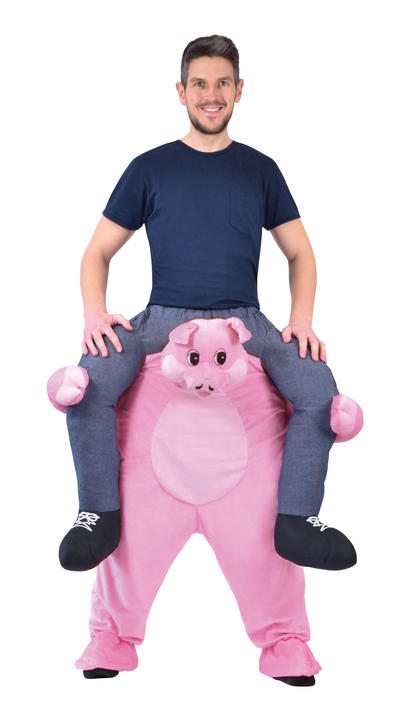Piggy Back Pig Fancy Dress Costume Thumbnail 1