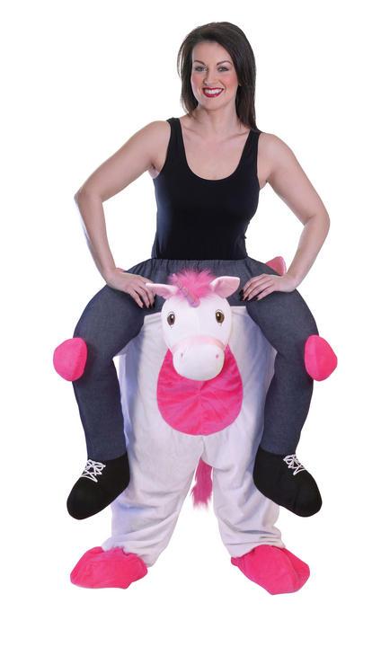 Piggy Back Unicorn Fancy Dress Costume Thumbnail 1