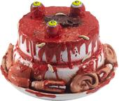Latex Zombie Cake Prop with Moving Eyes