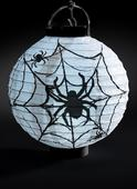 Light Up LED Paper Spider Web Lantern