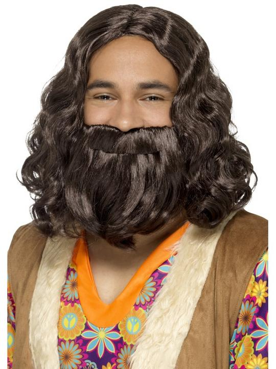 Hippie/Jesus Wig & Beard Set Thumbnail 1