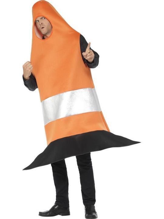 Traffic Cone Men's Fancy Dress Costume Thumbnail 2