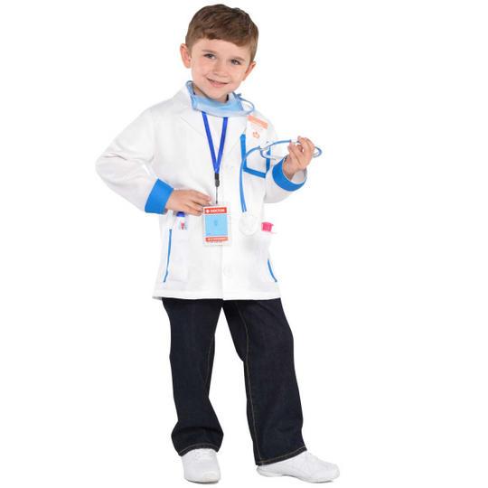Boys Girls Doctor Kit Kids Fancy Dress Costume Outfit Medical Hospital Story  Thumbnail 2