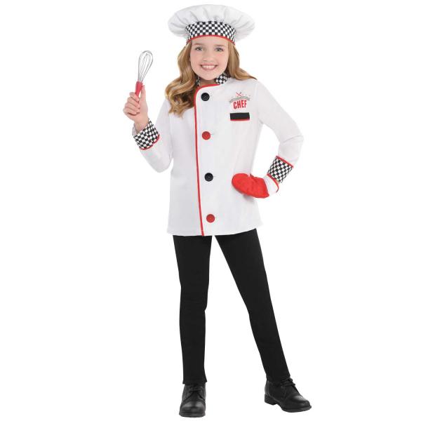 Chef Unisex Kit Fancy Dress Costume Age 4-6 years