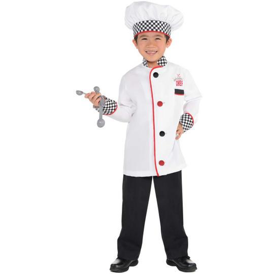 Chef Unisex Kit Fancy Dress Costume Age 4-6 years Thumbnail 2